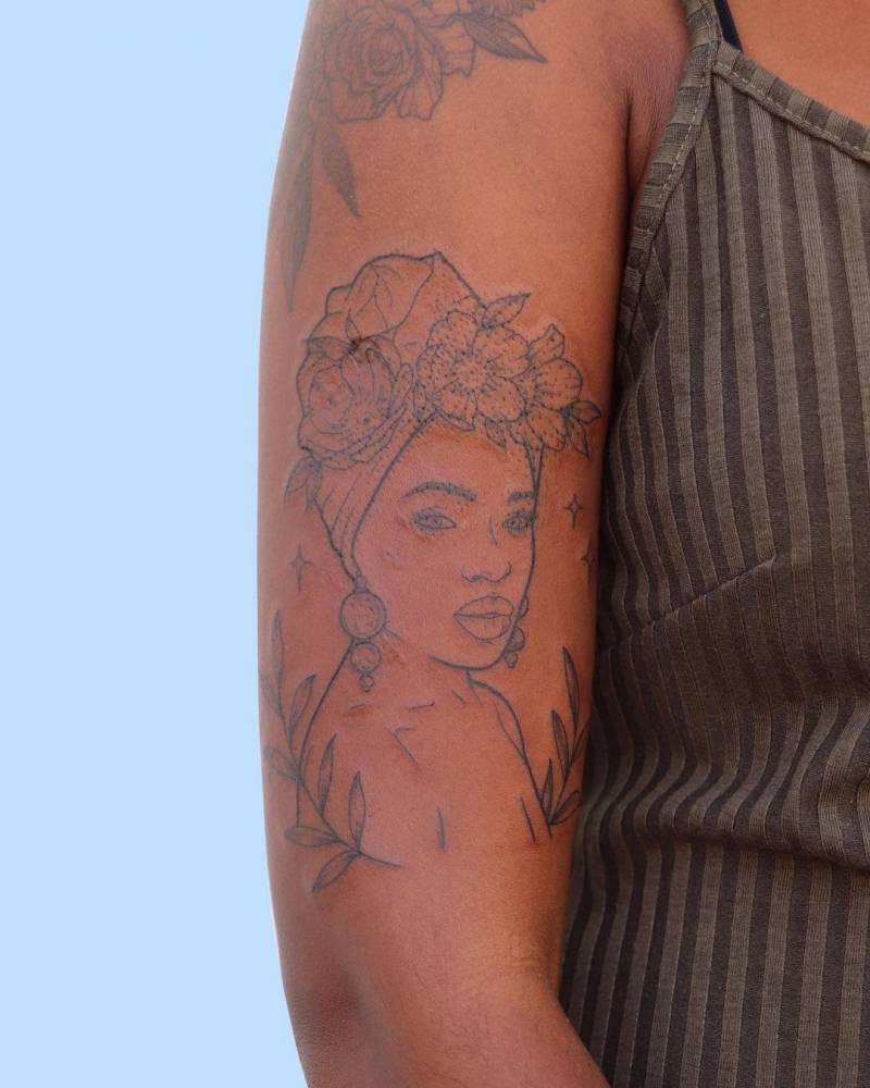 An interpretation of the Greek Mythological Goddess Andromeda.