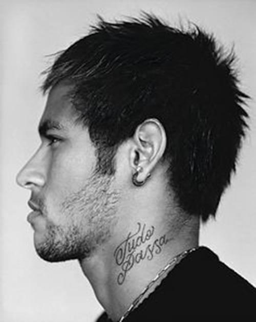 Tatuaje En El Cuello De Neymar Que Dice Tudo Passa
