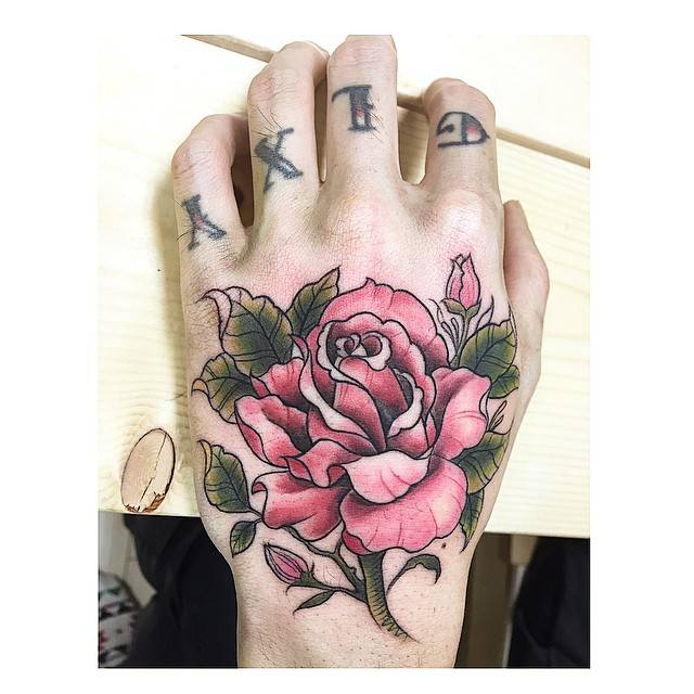 Rose Tattoo On The Hand