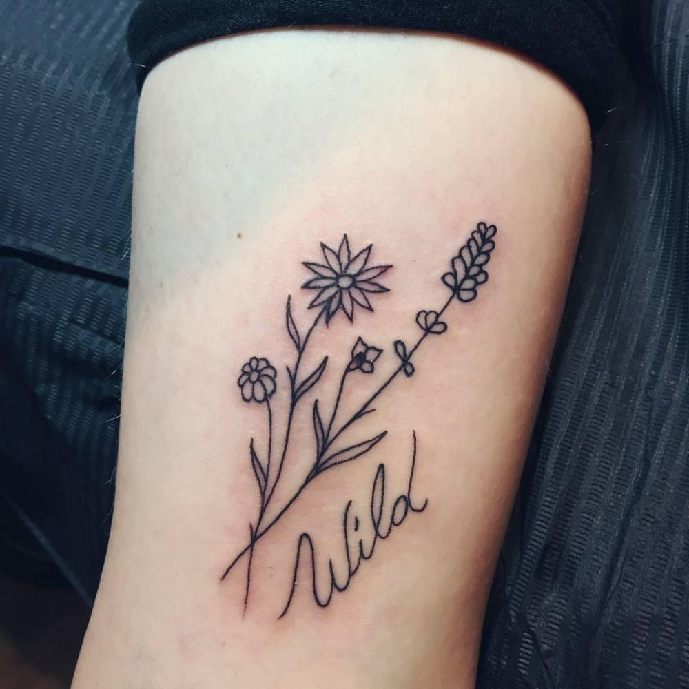 Wild Flowers On Harriet Barley