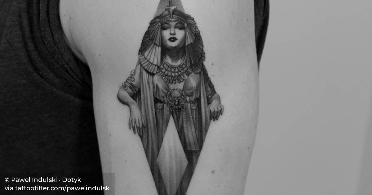 Cleopatra Tattoo On The Left Upper Arm