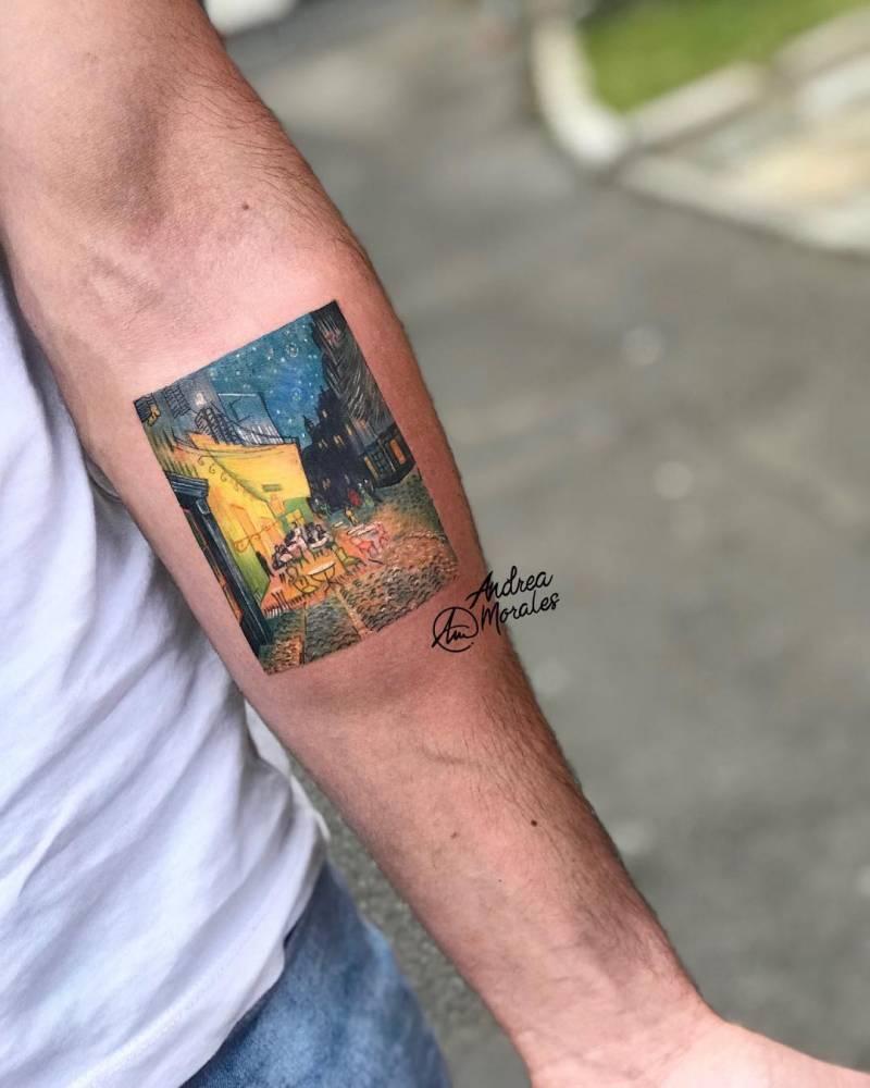 Micro Ilustración De 9cm Del Cuadro De Van Gogh