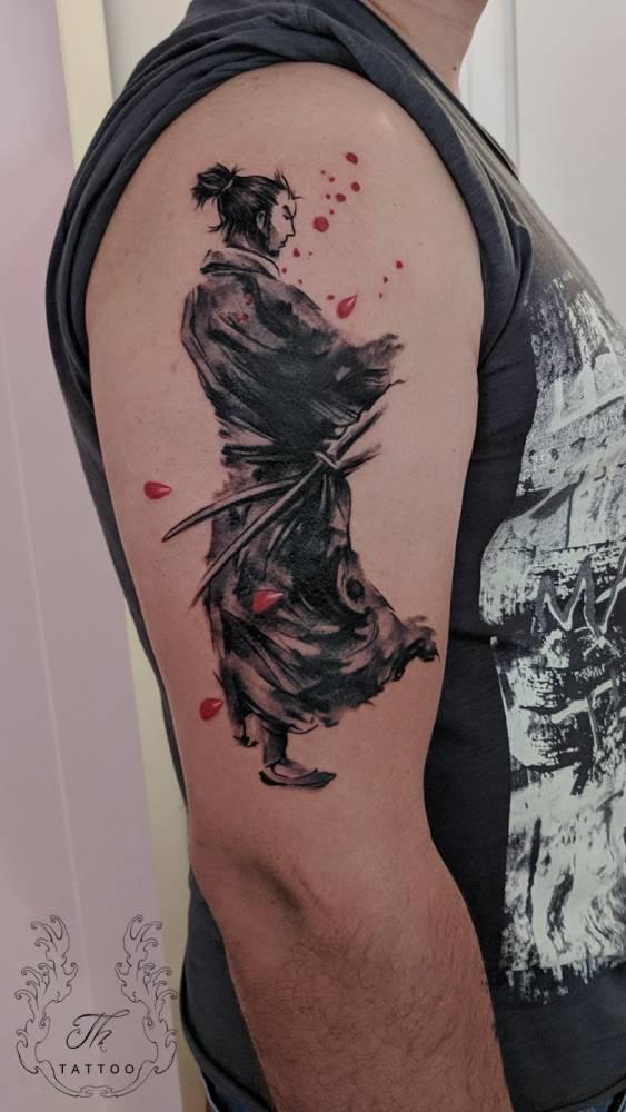 The path of Samurai Tattoo Miyamoto Musashi