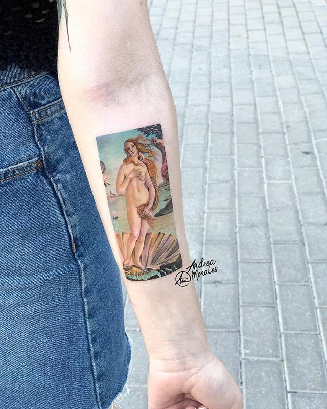 Ilustracion De El Nacimiento De Venus De