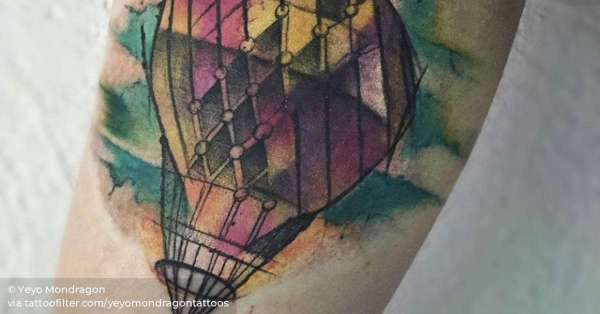heißluftballon tattoo