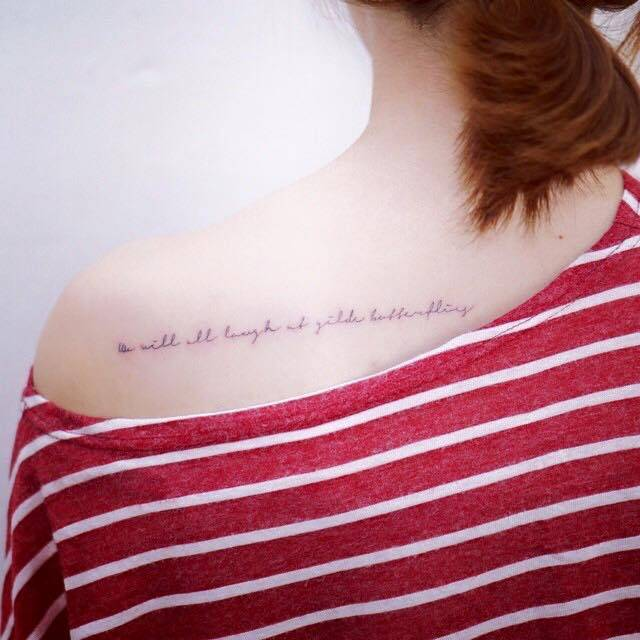 We Will All Laugh At Gilded Butterflies Tattoo On The