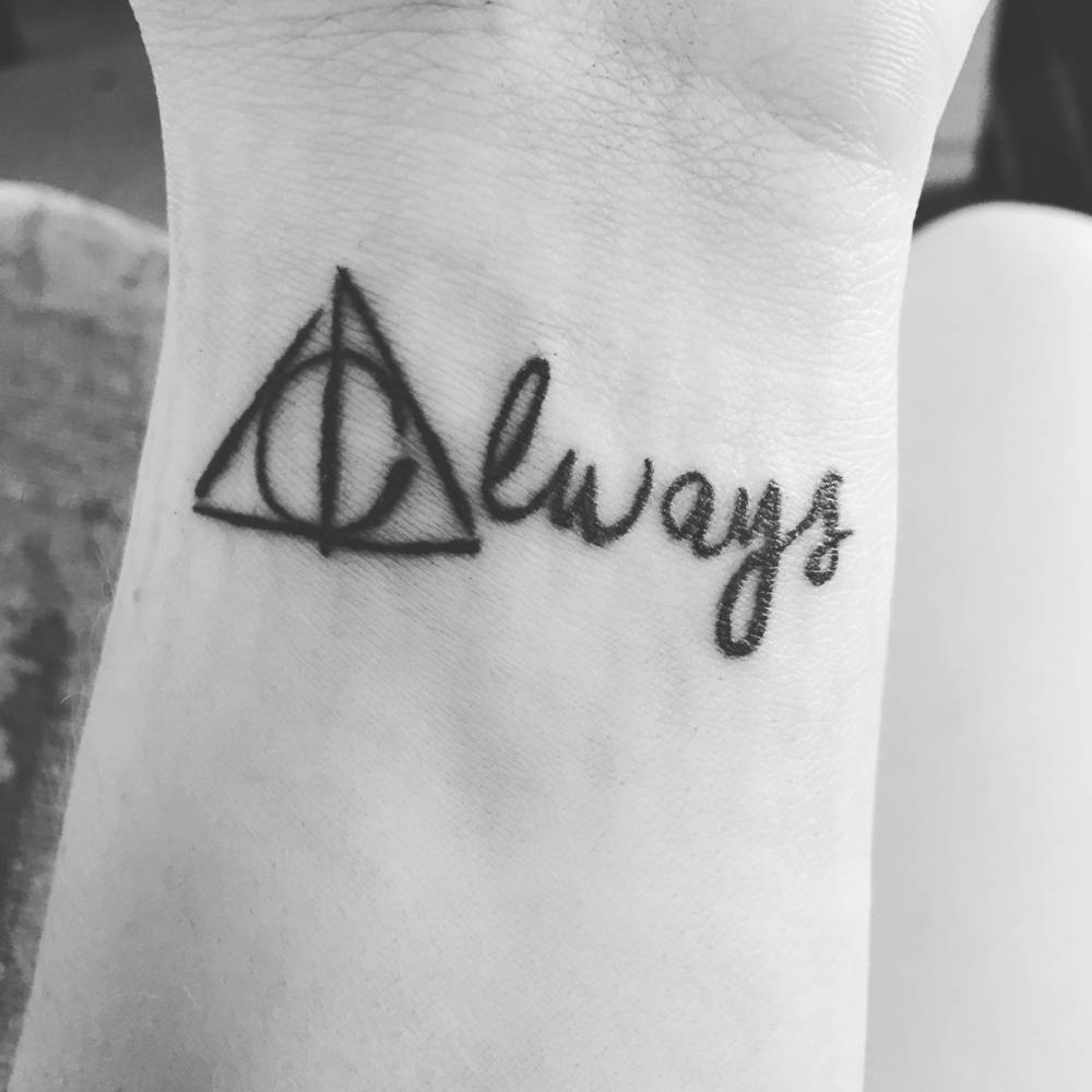Always Tattoo On The Wrist The Capital A As Harry