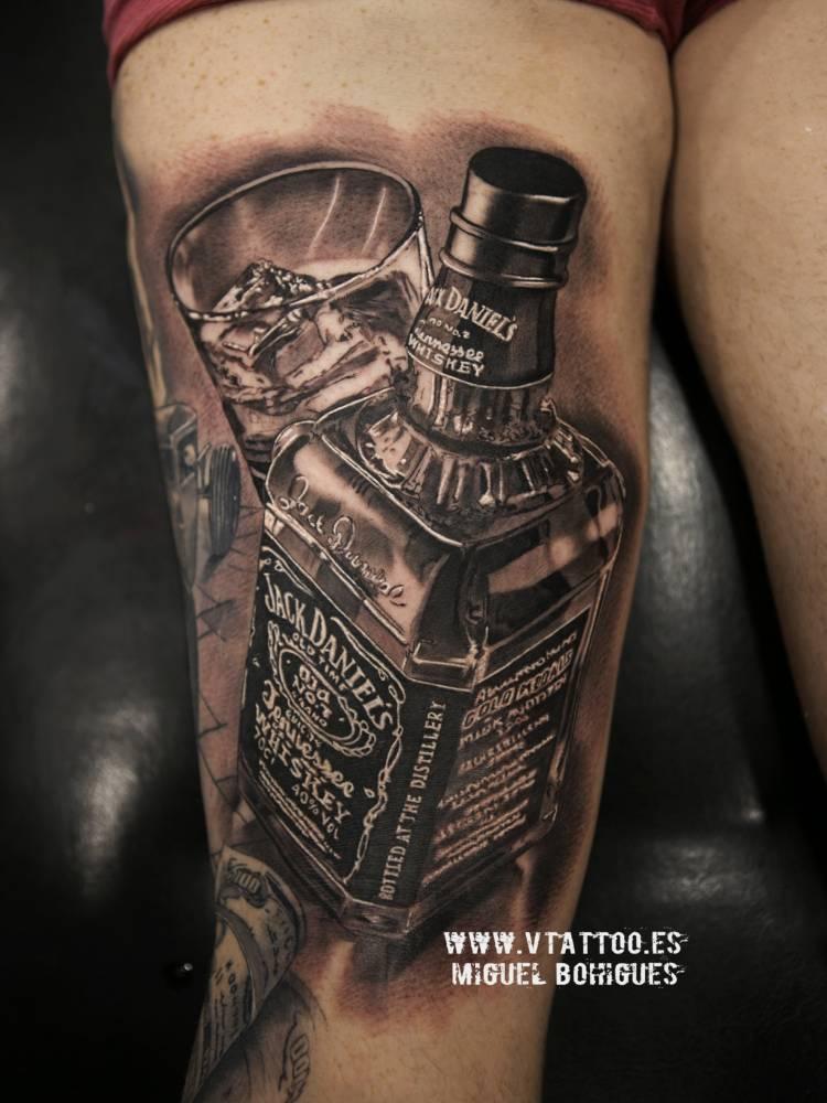 Pirate Drinking Bottle Of Xxx Tattoo
