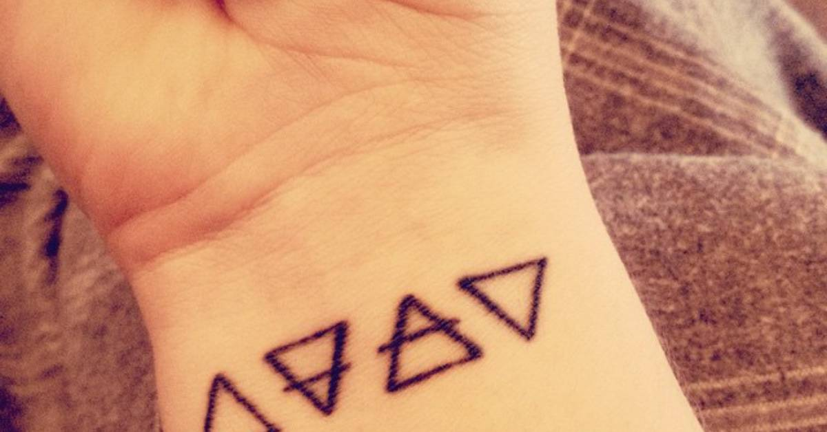 wrist tattoo of the alchemic symbols of four basic. Black Bedroom Furniture Sets. Home Design Ideas