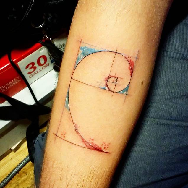Instagram Tattoo Filter: Golden Ratio Tattoo With A Watercolor Touch By Jay