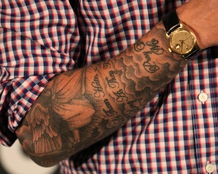 David Beckham Tatuaje En El Exterior Del Antebrazo
