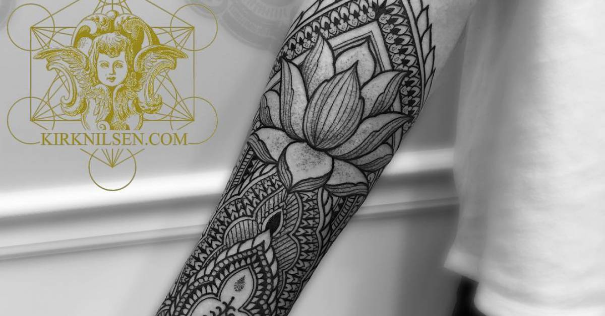 Henna Designs For Inner Arm: Henna Style Right Inner Forearm Tattoo