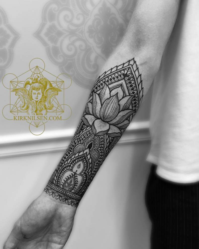 Henna Arm Tattoo Designs: Henna Style Right Inner Forearm Tattoo