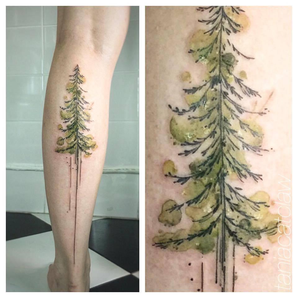 Cypress Tree Tattoo