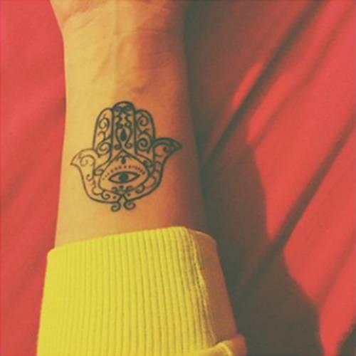 Hamsa Tattoo On Tamara Pérezs Forearm