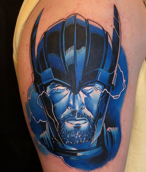 Little Thor action today. Start of a bigger lightening themed piece for Luke. Can't wait to finish it up. Thanks ?